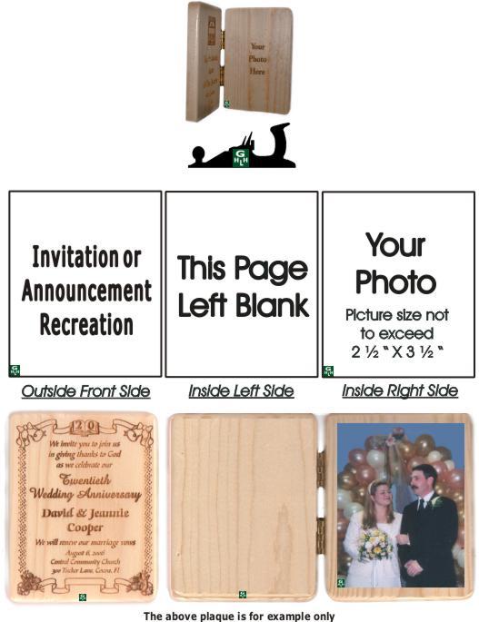 Invitation plaque