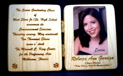 Copy of the plaque they made  with my photo inside.