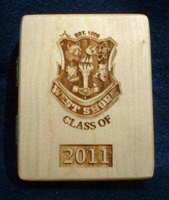 Copy of the plaque they made  with my High School Logo